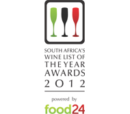 SOUTH AFRICA'S WINE LIST OF THE YEAR AWARD