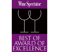 WINE SPECTATOR'S BEST OF AWARD OF EXCELLENCE