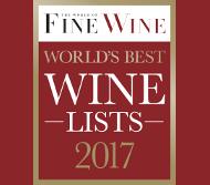 "World of Fine Wine ""World's Best Wine Lists Awards"" 2017"