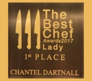THE BEST FEMALE CHEF and # 32 of 100 TOP CHEFS IN THE WORLD