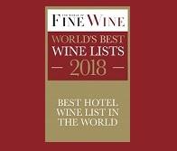 """World of Fine Wine ""World's Best Wine Lists Awards"" 2018 – Best Hotel Wine List in the World"
