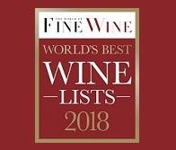 """World of Fine Wine ""World's Best Wine Lists Awards"" 2018"