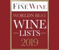 "World of Fine Wine ""World's Best Wine Lists Awards 2019″ – The Best Wine List in the World"